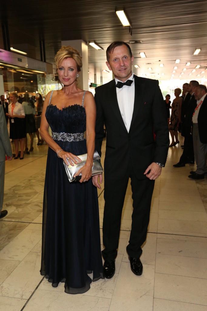 Herečka a hvězda TV Barrandov s přítelem a majitelem TV Barrandov Jaromírem Soukupem.
