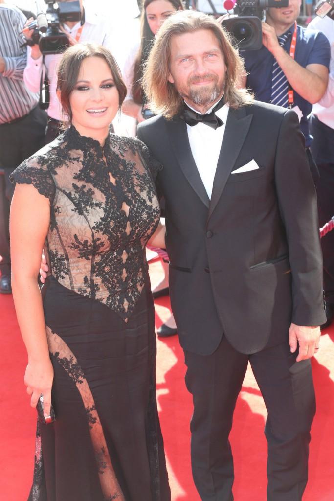 Herečka a zpěvačka Jitka Čvančarová s manželem Petrem Čadkem.